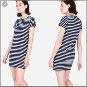 Everlane Gia Mini Tee Dress Black & White Striped